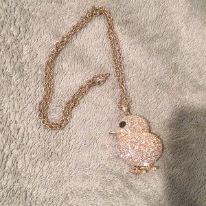 Beaten Johnson rhinestone chick 🐣 necklace